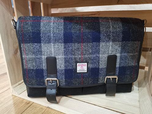 Genuine Harris Tweed Blue Laptop Bag