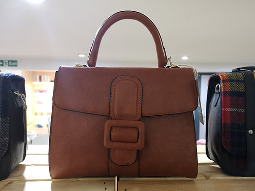 Brown Ladies Handbag With Buckle