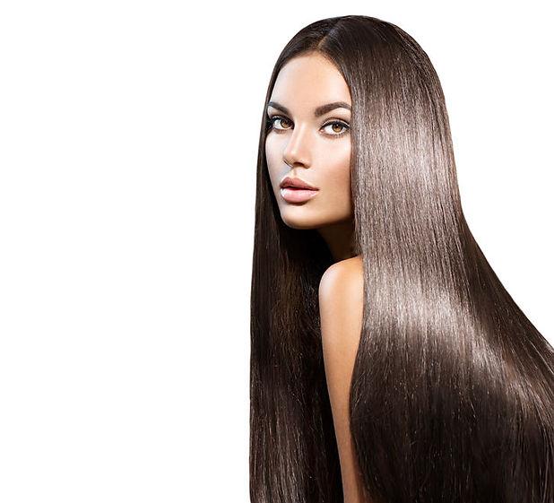 Natural glossy hair
