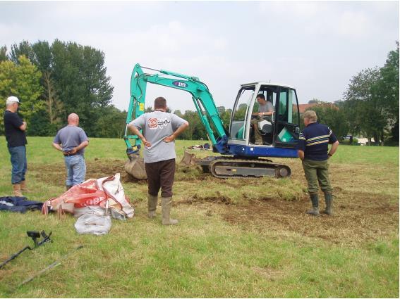Restoring Scriminger Paddock after the dig.