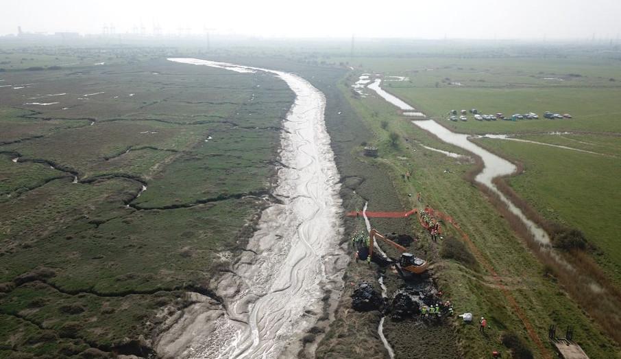 Hurricane P3966 and Fobbing Marshes.jpg