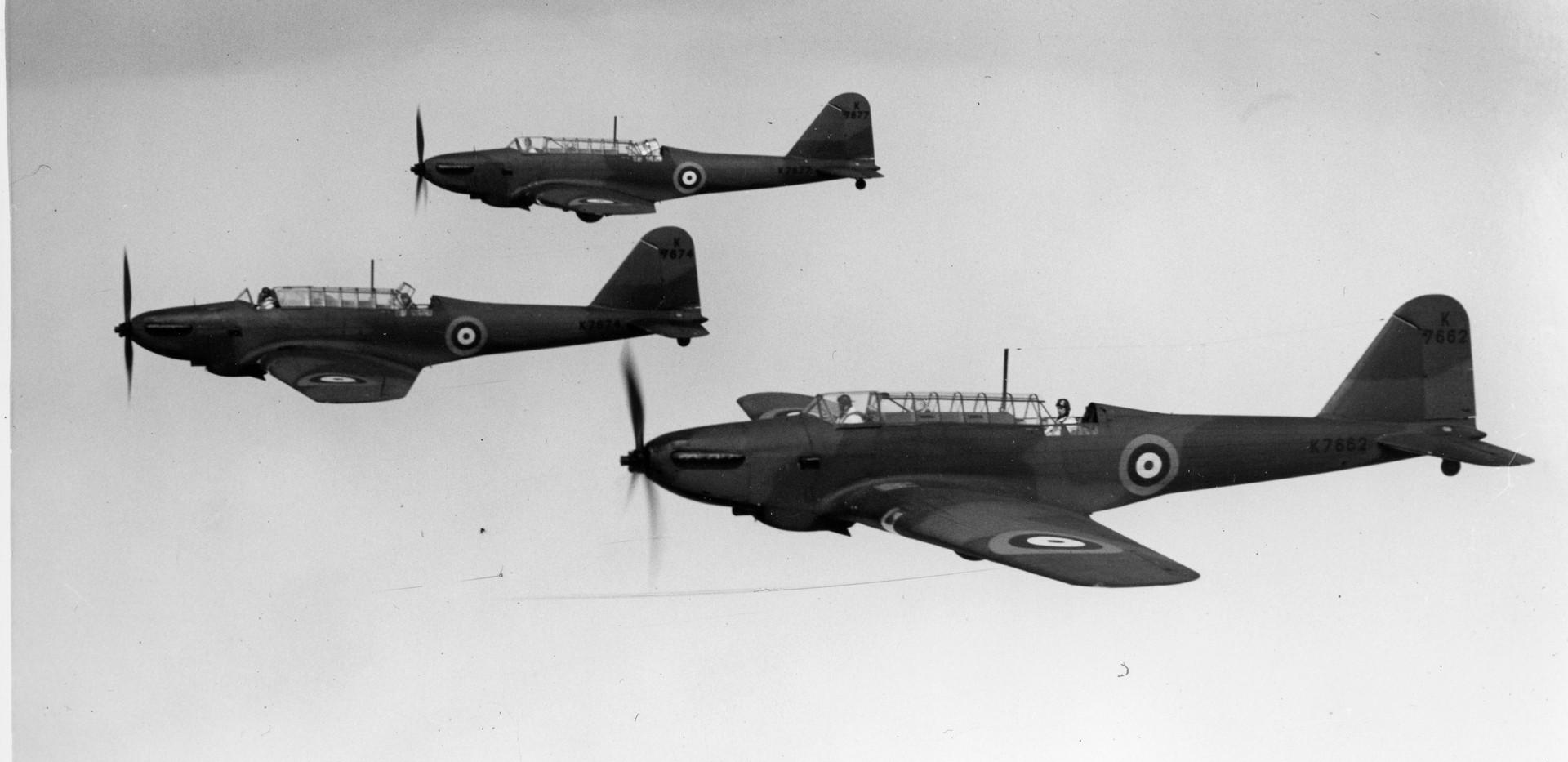 Fairey Battles in formation