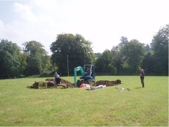 A magnetometer survey suggested the engine and all large parts had been recovered at the time. Only a small excavater was needed.