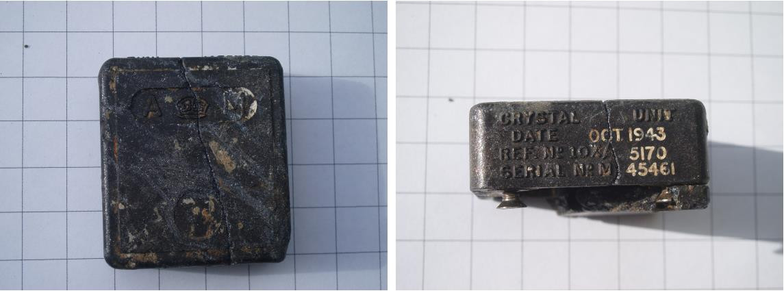 British manufactured radio crystal.