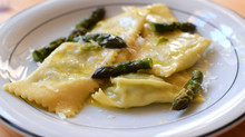 Ravioli with Asparagus and Ricotta