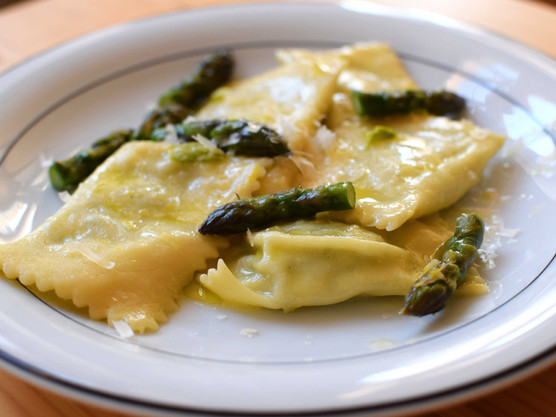 Ravioli with Asparagus and Ricotta