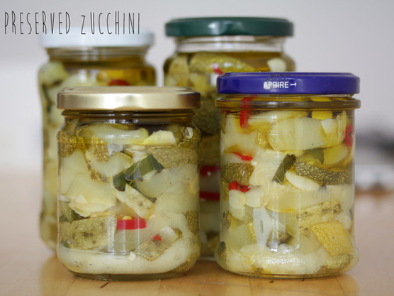 How to make Preserved Zucchini