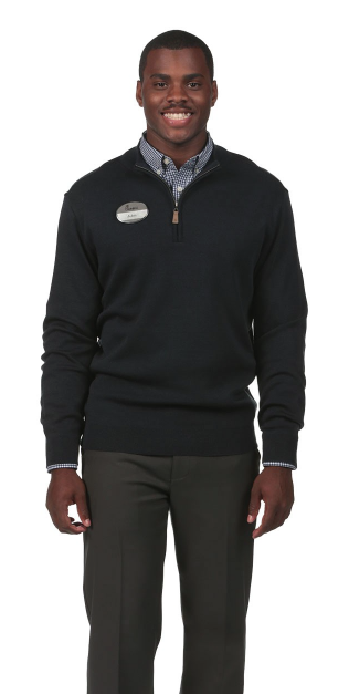 Northwoods 1/4 Zip Sweater: Navy