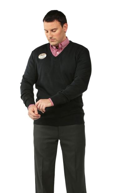 Woodruff V-Neck Sweater: Navy