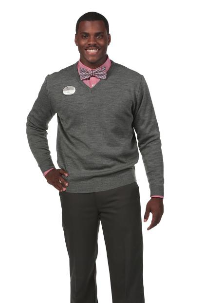 Woodruff V-Neck Sweater: Charcoal