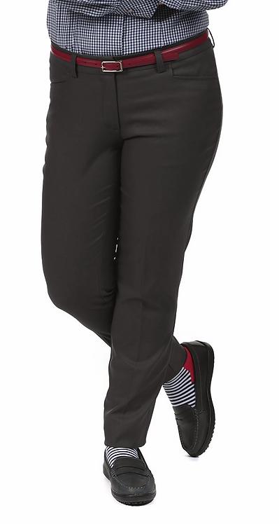 Female Delran Slim Pant: Charcoal