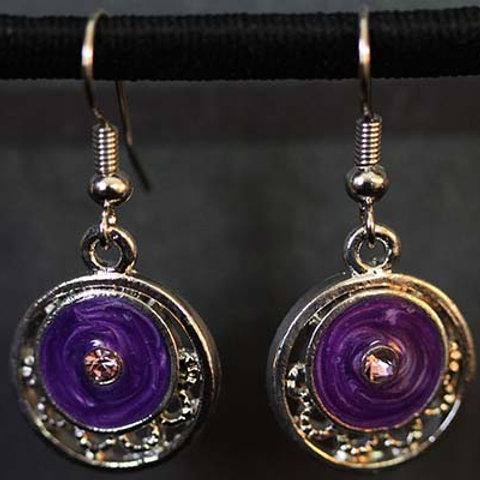 Purple Dsc Earrings