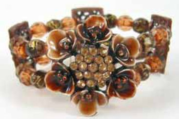 Enamel Bracelet - Brown