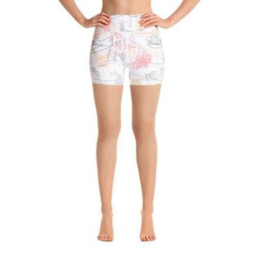 Yoga Shorts - Squiggle