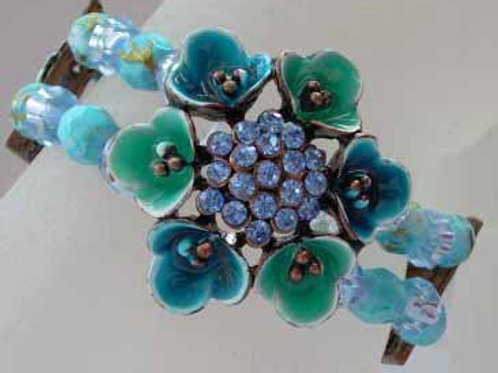 Enamel Bracelet - Blue