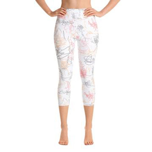 Yoga Capri Pants - Squiggle