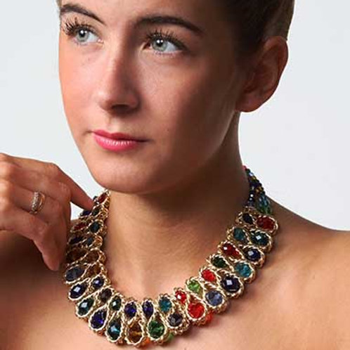 coloured statement collar necklace
