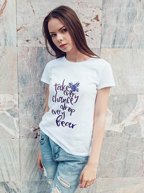 Lou-Mae - Take Every Chance Blue - T-Shirt