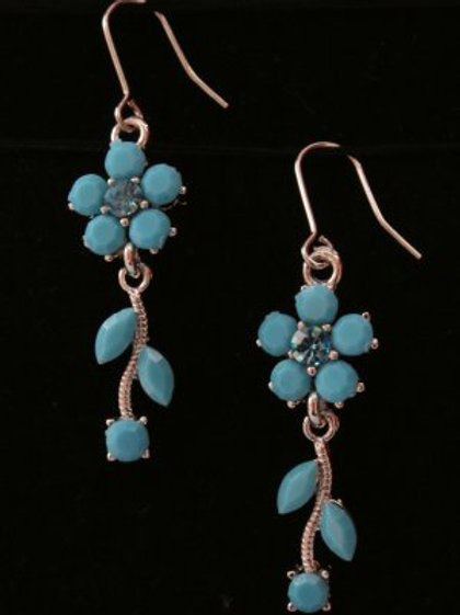 Turquoise Flowers Earrings