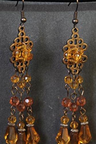 Amber Beaded- Earrings