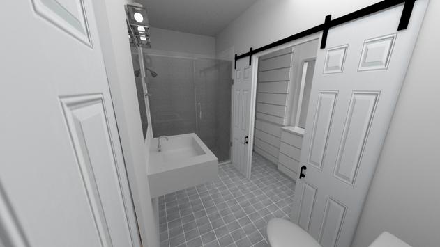 Master Bathroom 3D Render