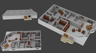Floor Plan 3D Render