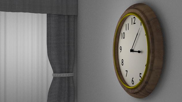 Clock Curtain 3D Render