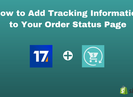 How to Add Tracking Information to the Order Status Page