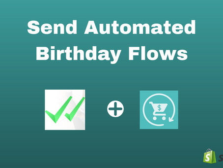 How To Send SMS Birthday Flows With SMSBump