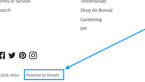 "Remove ""Powered by Shopify"""