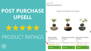 Display product reviews on your thank you page!