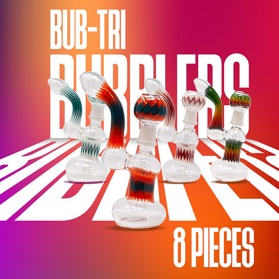 Bub-Tri 7 Inch Glass Bubblers