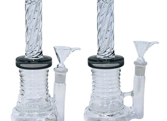 Twisted Design Bong With Honey Comb Perc