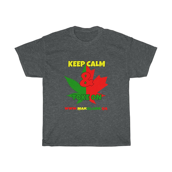 """Keep Calm"" Unisex Heavy Cotton Tee - M.A.K Glass"