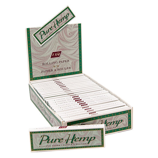 Pure Hemp Natural Unrefined Rolling Papers 1.25