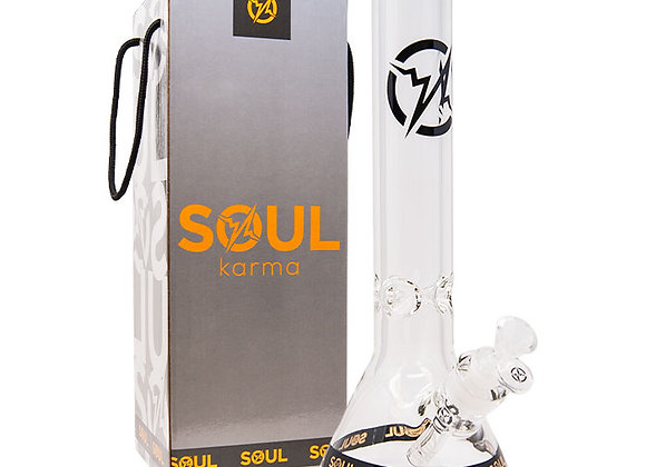 Soul Glass 9mm Thick Clear Glass Beaker Bong 14 Inches