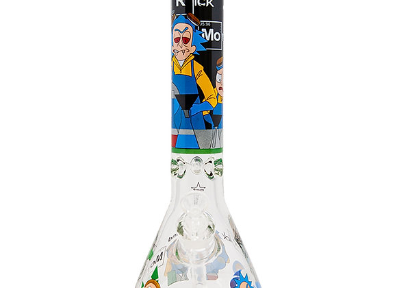 Rick N Morty Lab Experiment 14 Inch Glass Bong