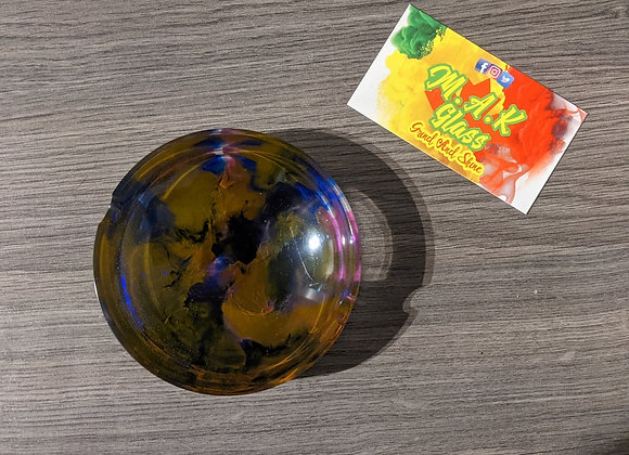 Alcohol Ink Circular Ashtray