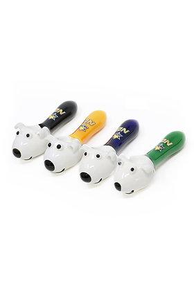 5 inch White Dog Handpipe