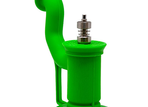 Cannatonik Silicone Green Bubbler With Titanium Nail And Stick