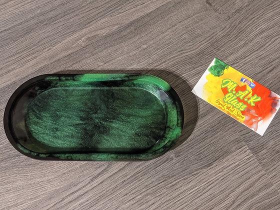 Black & Green Rolling Tray