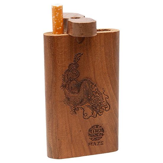Maze Dragon Teak Wood Dugout