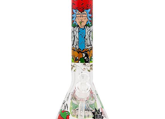 Rick N Morty Spooky 14 Inch Glass Bong