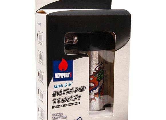 Newport Zero Mini 5.5 Inches Silver Dragon Butane Torch