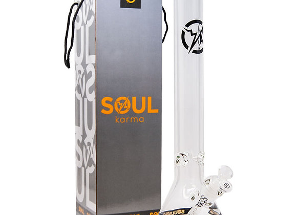 Soul Glass 9mm Thick Clear Glass Beaker Bong 18 Inches