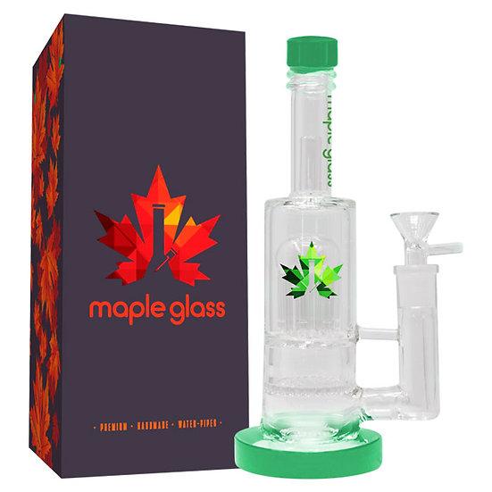 "Green Maple Glass Bong 12"""