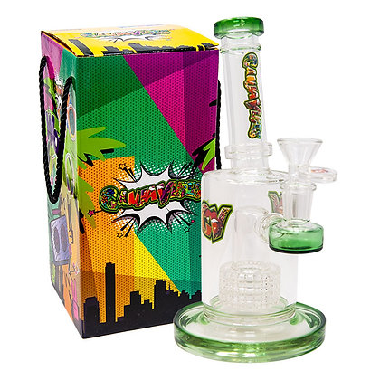 Green Tilt-Head Medium Ganjavibe Bong With Showerhead Perc