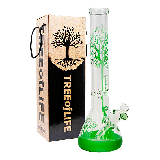 Green Tree Of Life Cannatonik 16 Inches Bong