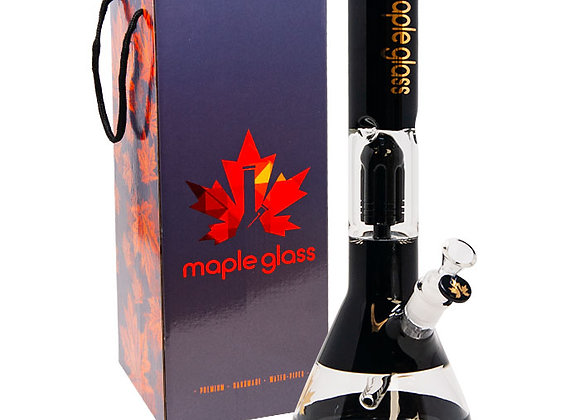 Black Maple Glass Tree Percolator Bong 14 Inches