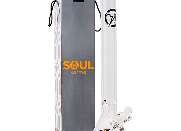 Soul Glass 9mm Thick Clear Glass Beaker Bong 22 Inches